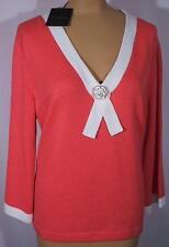 NWT ST. JOHN Knits Santana Knit Passion Pink Sweater Shirt Shell sz 16 $990