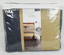 Jcp Home King Duvet Cover - 100% Pima Cotton - Jcpenney - Gray Rugby Stripe
