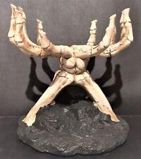 Yankee Candle HALLOWEEN Jar CANDLE HOLDER Boney Skeleton Skull Hands Bedazzled