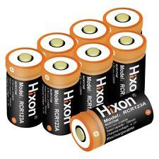 8XHixon 3.7V 16430 Battery Rechargable RCR123A Li-ion Batteries for Arlo Reolink
