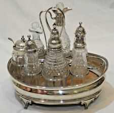 Antique George III Style Sterling Silver Cruet Set by Robert Hennell I & Samuel