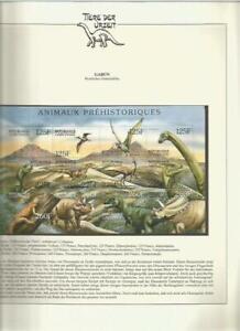 81552/ Dinosaurier Fauna Tiere ** MNH OHNE VORDRUCK GABUN