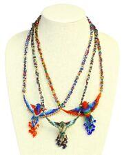 "NE788 Hummingbird Crystal & Glass Beads 20"" 3 Pk Assorted Necklace Mix Guatemala"