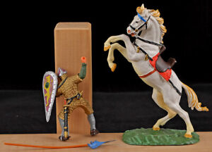 Hausser Elastolin 888s Mounted Norman with Spear - 1960s - mint in box