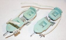 Vintage 1950's Zipees Kid's Beginner Green Ice Skates with Stabilizer Wings