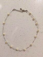 Freshwater Pearl Necklace on Hygienic Treated Wire