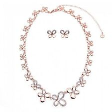 Butterfly Shape Diamante Necklace & Earring Set Special Offer