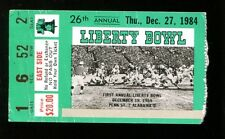1984 Liberty Bowl Ticket Auburn v Arkansas 12/27/84 Memphis TN Bo Jackson 35022