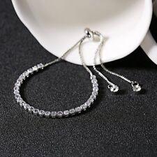 Charm Silver/Gold/Rose gold Crystal Rhinestone Cubic Zircon Bracelet Bangle New