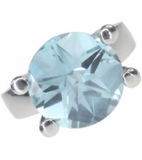 Topaz Sterling Silver Round Natural Fine Gemstone Rings