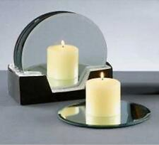 13cm ( Small) Diameter Silver Mirror Candle Plate With Bevel Design