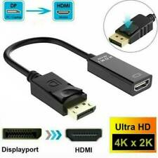 HP Display Port DP Male to HDMI V1.4 Female Converter Adapter Cable Connector ..