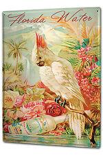 Blechschild XXL Retro Florida Water Papagei