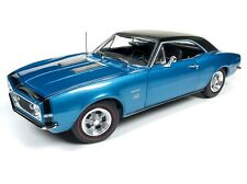 2018 NEW 1:18 AUTO WORLD AMERICAN MUSCLE *BLUE* BALDWIN MOTION 1967 CAMARO SS427