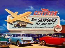 SKYPOWER LOS ANGELES 1956 Vancas Midcentury Auto Aviation LA Airport 28X21 CANVS