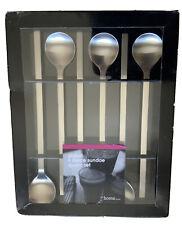6 Sundae Spoons Long handled Teaspoons Stainless Steel