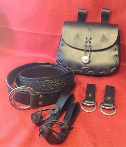Celtic Knotwork Ring Belt & Pouch Skirt Hikes & Mug Straps - Faire SCA Medieval