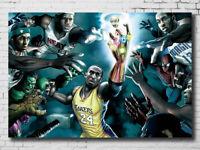 G-212 Kobe Bryant Great Superstar Art Silk Poster 36x24 21x14