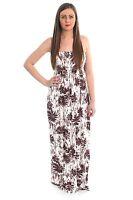 Ladies Printed Sheering Boobtube Women Strapless Beach Top Bandeau Maxi Dress