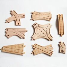 Parts track wooden train tracks fit for Brio toy magnetic trains railroad gift