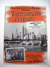 """1953 Ad Travel Brochure for """"Fram Filters"""" New York State Tour w/ The Swayzes *"""