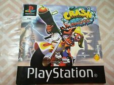 crash bandicoot warped booklet instructions only