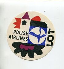 Aviation Other Airline Collectibles C 1960 Masurian Lakes ~lot Polish Airlines~ Unique Die-cut Fish Luggage Label