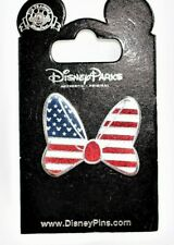 DISNEY MINNIE MOUSE AMERICAN FLAG BOW PIN (NEW)