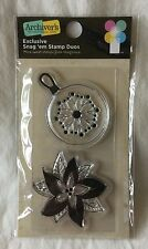 NEW Archiver's Exclusive Snag 'Em Stamp Duos Imaginisce - Ornament Poinsettia