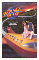 EARTH GIRLS ARE EASY MOVIE POSTER Original Rolled N. Mint 27x41 JEFF GOLDBLUM