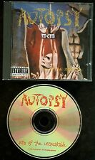 Autopsy Acts Of The Unspeakable CD Peaceville ‎VILE 33CD USA 1992 Press