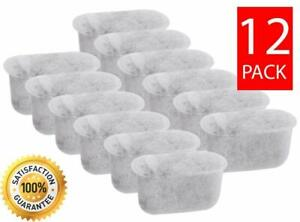 (12) Replacement Charcoal Water Filters Fits ALL BRAUN Coffee Makers, BRSC004