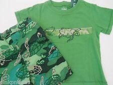 New LL Bean Turtle Swim Shorts & Surf Shirt Set 6-12 Months Baby Boy Trunks Suit