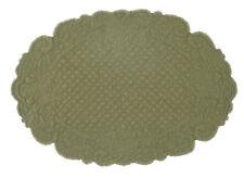 Tischdecke Platzdecke Platzset oval Quilt oliv grün Shabby Blanc Mariclo Toskana