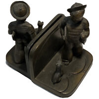 Vintage FrankArt Sailor Boy and Dog Art Deco Bronze Bookends