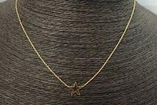 9ct Collar de estrella de oro - - Ajustable