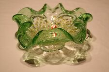 Vintage 60/70's Murano Floriform Ashtray/Bowl With Controlled Bubbles Gold Dust