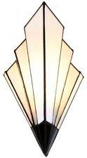 schmale Design-TIFFANY-Wandlampe FRENCH ART DECO. NEU Glas Licht Beleuchtung