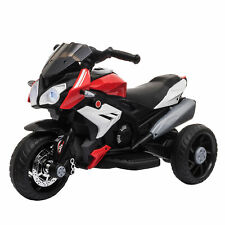HOMCOM Kids Electric Motorcycle Ride-On Toy 6V Battery Music Horn Lights Red
