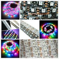 5V WS2812B 5050 RGB LED Strip 5M 150 300 Leds 144 60LED/M Individual Addressable
