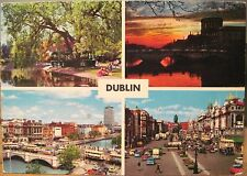 Irish Postcard DUBLIN MULTIVIEW Stephen's Green Four Courts O'Connell Hinde 4x6