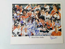 Philadelphia Flyers Broad Street Bullies Autographed Dave Schultz Plus 9 players