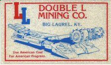 Double L Mining Co. Big Laurel Ky Vintage Unused Mining Hard Hat Sparkle Sticker