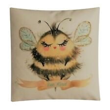 'BEE KIND' CUSHION,COVER ONLY OR COMPLETE WITH PAD,40 CMS SQUARE,HOME DECOR