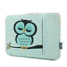 """Cute Owl Notebook Laptop Sleeve Case Carry Bag Pouch Cover for 11.6""""HP Lenovo"""