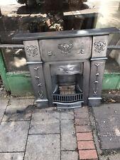 More details for original 1904 cast iron art nouveau fireplace