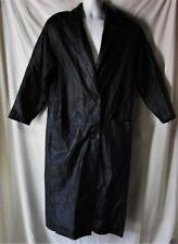 Women's  Black Leather Trenchcoat Size Medium