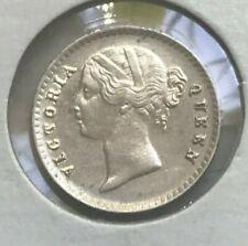 1841 India 2 Annas - Nice Silver