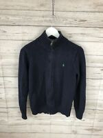 RALPH LAUREN Full Zip Jumper - Size Age 14-16 Large - Great Condition - Men's