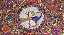 Peacock Wall Hanging Tapestry Bird Paradise Embroidery Large Bed Spread Asian